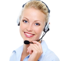 beautiful smiling happy woman in headset